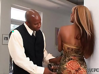 Surprising his Young Ebony Stepdaughter