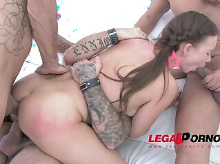 Taylor first time in studio mini gangbang DP