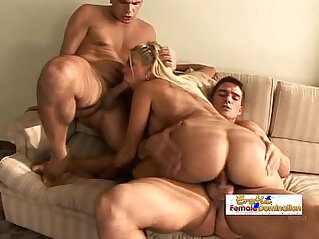 Studs team up on a perfect blondes tight ass and pussy