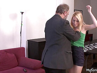 Father in law punishes sons girl