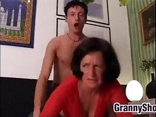 Grandma Wants Hard Rough On The Bed
