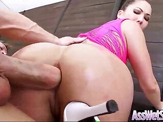 Big Oiled Butt Girl Nailed Deep In Her Ass clip