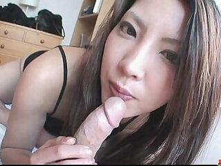 Saya Shows Her Blowjob Skills As She Sucks Him Dry