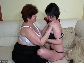 Oldnanny old fat grannies masturbating and enjoying with her young amateur girl