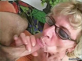 Hairy granny loves dick