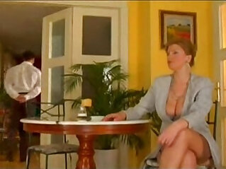 First class mature sluty lady fucked by lucky waiter