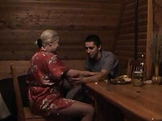 blonde russian mom son