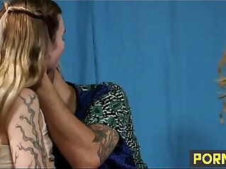 mom and son sharing a stripper