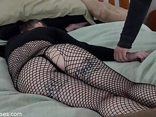 Ass Groping in Fishnets HD