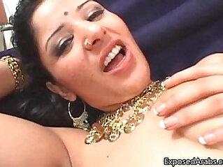 Tight horny Arabian princess gets