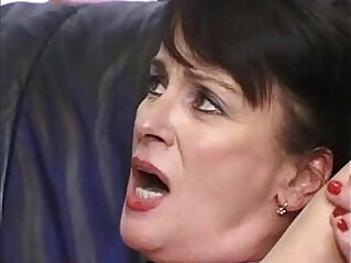 Mature Gets creampie from son