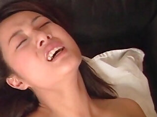 Pussy nailed jap school babe taking man juice in her mouth
