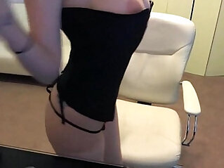 Cute lovely Teen in Corset Bates Her Tight pink Pussy Webcam