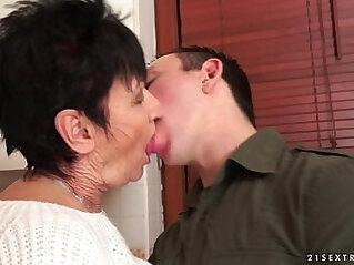 Cockhungry grandma fucked really hard