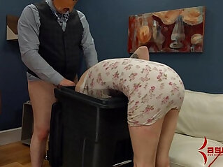 Goth girl gets rough anal punishment and facefucking in the garbage