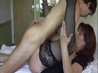 Hot Mom Fucking herself with son
