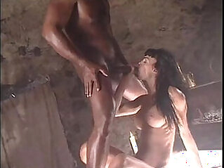 Interracial porn movie scene with Venere Bianca and a black cock