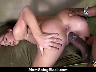 Mature Mom barely takes inch Black hard Cock