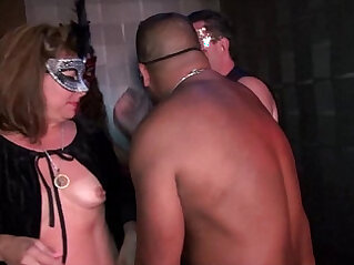 Young swingers mature MILFs fuck in Trapeze Club Eyes Wide Shut orgy