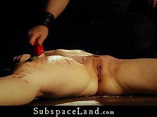 Teen amateur slut discipline restraining for disobedient pussy rough fucked