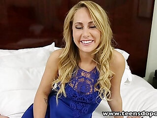 TeensDoPorn sexy blonde euro babe Carter Cruise first time porn casting