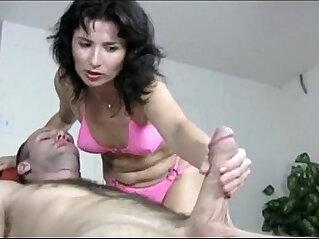 Naughty sexy Milf Gives A Handjob Massage