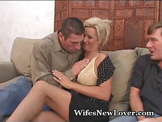 New Lover For Wife playing With creamy Pussy Hubby