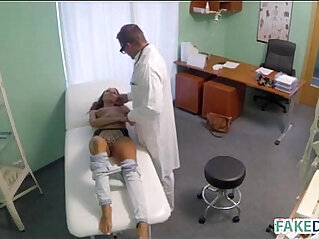 Teen with doctor