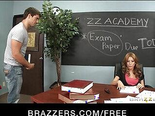 Big boobed sex hungry teacher Aleksa Nicole fucks her student