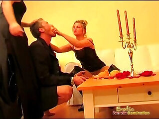 Goddess Mistresses Get Naughty In Front Of Their Slave