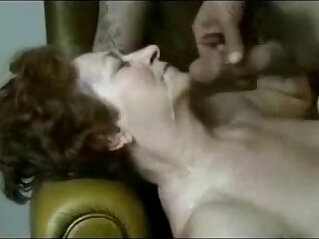 Granny having fun with naughty horny student. Amateur