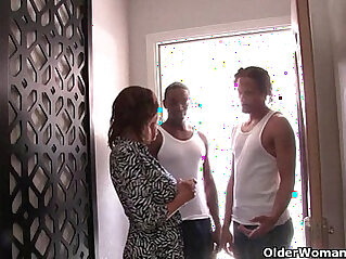Cuckold hubby watches his wife fucking black monster cocks