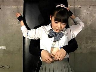 JAPANESE SCHOOL GIRL OILED TICKLED