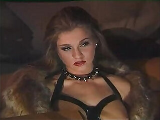 Orgy in leather dress for sex slaves
