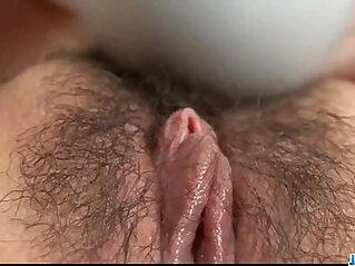 Aoi Mizumori plays shaved pussy in sensual solo