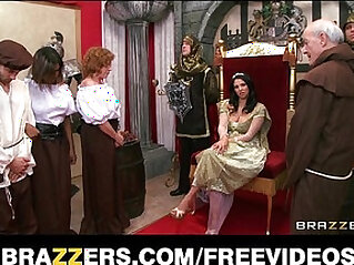 The queen gets caught cheating and is punished with rough sex