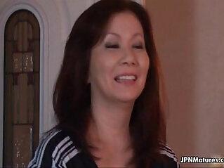 Sexy horny Japanese mature mom