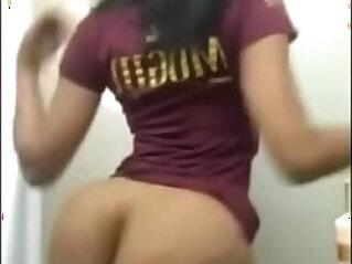 Black horny girl with big ass twerking