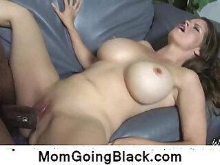 Sexy blonde milf interracial hardcore sex video