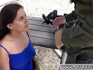 Brunette blowjob Agent Has Sex with Civilian Girl