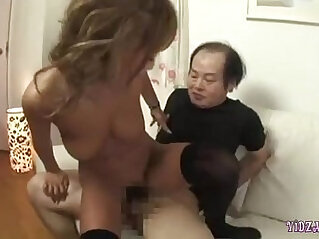Hot Tanned Asian Girl getting Fucked By Ugly Men Cum To Tits And To Mouth On The Bed