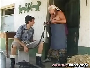 Busty Grandma Gets her pussy Stuffed With Young Cock