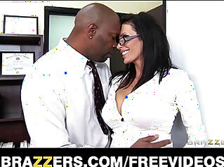 Big tit lawyer Shay Sights daydreams about fucking her boss