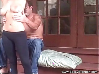 Sister Fucks Brother On Stairs